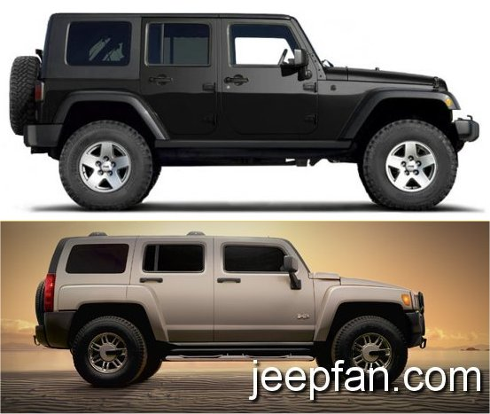 jeep wrangler jk vs hummer h3. Black Bedroom Furniture Sets. Home Design Ideas