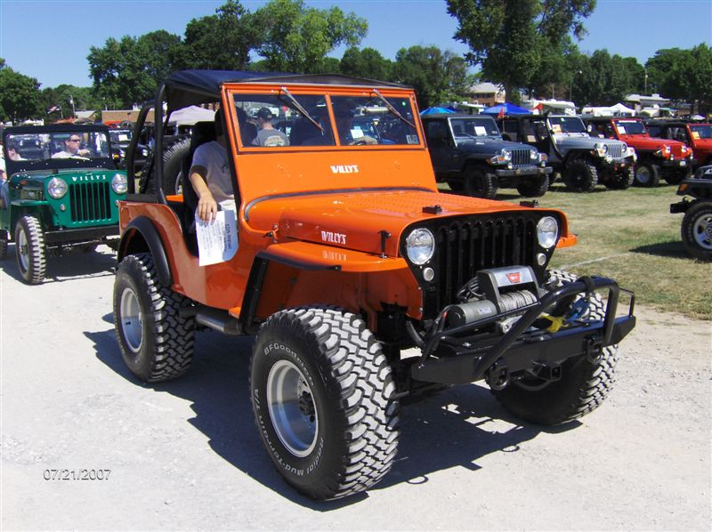 Orange Jeeps With Black Grill And All Brackets