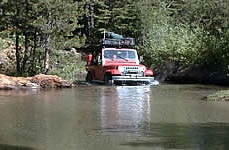 Jeep in the River