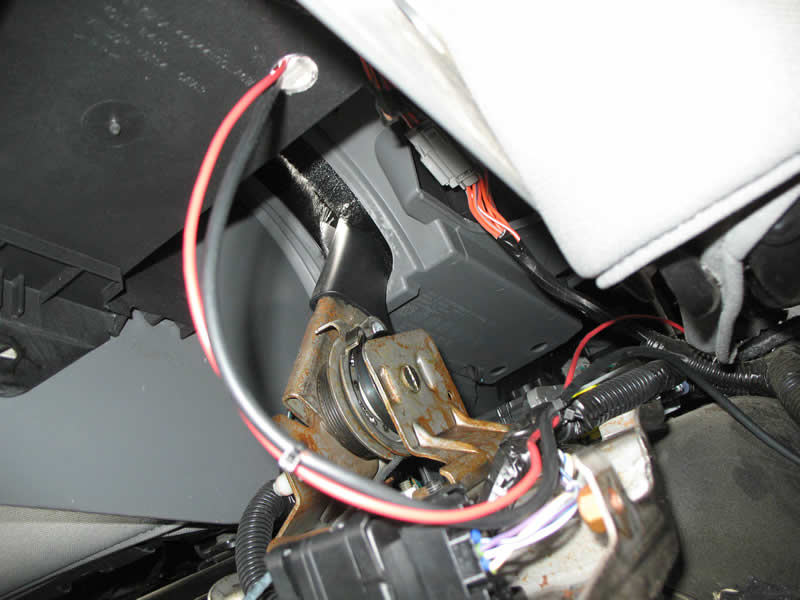 cobra dx iv cb radio install in a jk wrangler com a hole was drilled in the console mount to provide a ground for the cb a 3 4 inch hole was drilled in the bottom of the console and the wires were fed