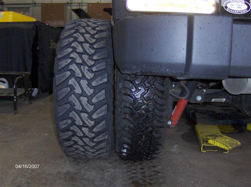 Tire Size Comparison >> Toyo Open Country M/T Tires, 295/70R17, JK Wrangler ...