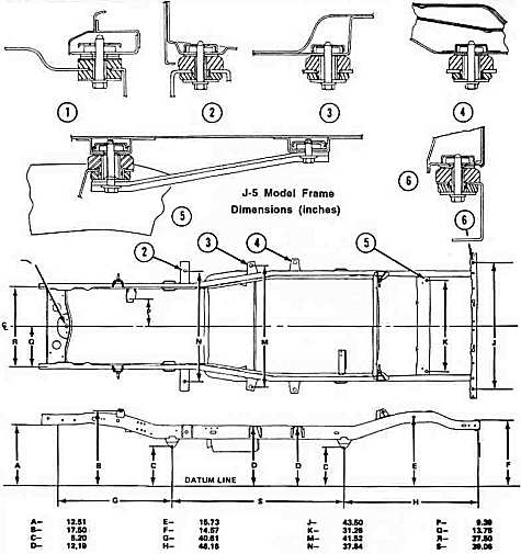 jeep cj7 body mount diagram