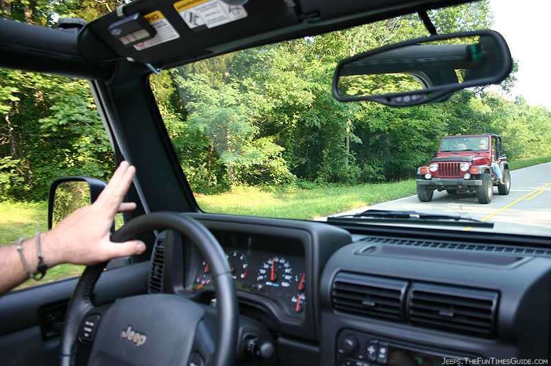 Jeep Trail Rated jim doing the jeep wave | jeepfan.com