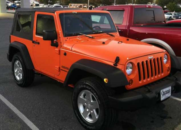 2012 Jeep Wrangler New Color Crush