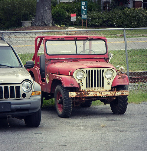 red-old-cj-5