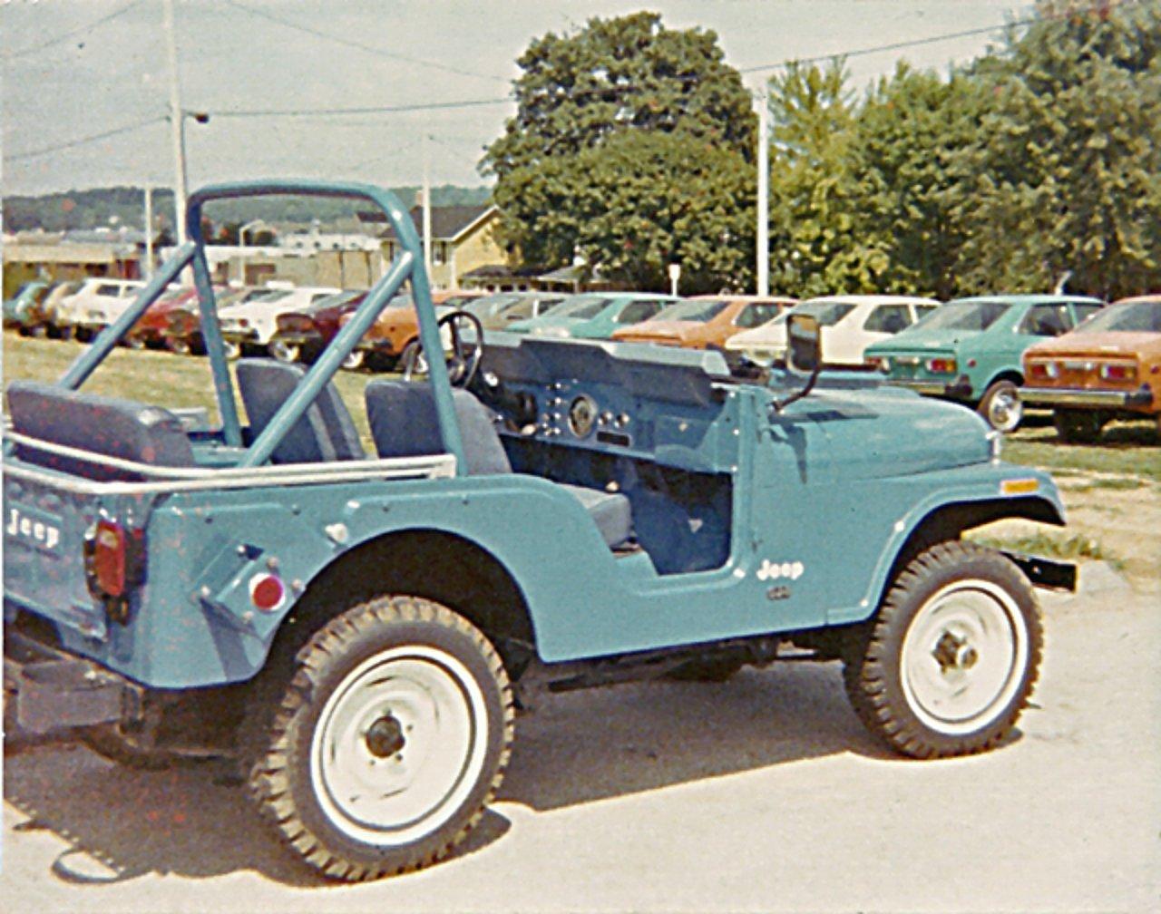 New 1975 Jeep Cj 5 Sitting On Jeep Dealer Lot Jeepfan Com