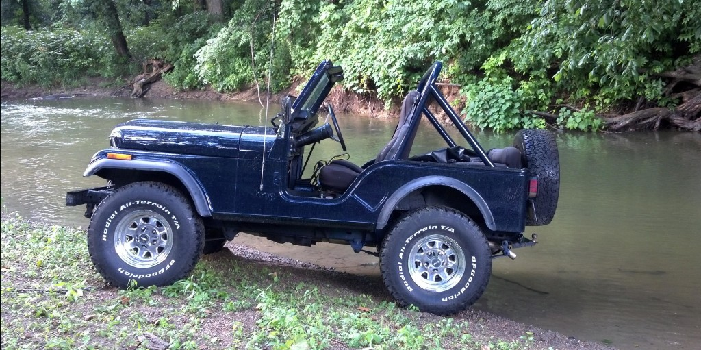 it 39 s monday think jeep 1981 cj 5 with 33 bfg all terrains. Black Bedroom Furniture Sets. Home Design Ideas