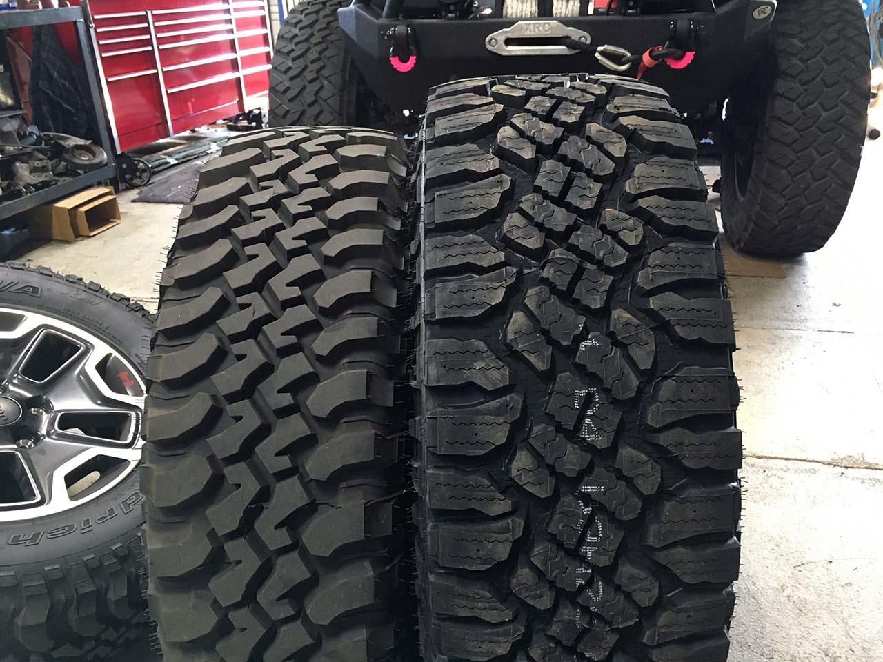 Tire Size Comparison >> Goodyear Duratrac 315/70R17 Tires Installation | jeepfan.com