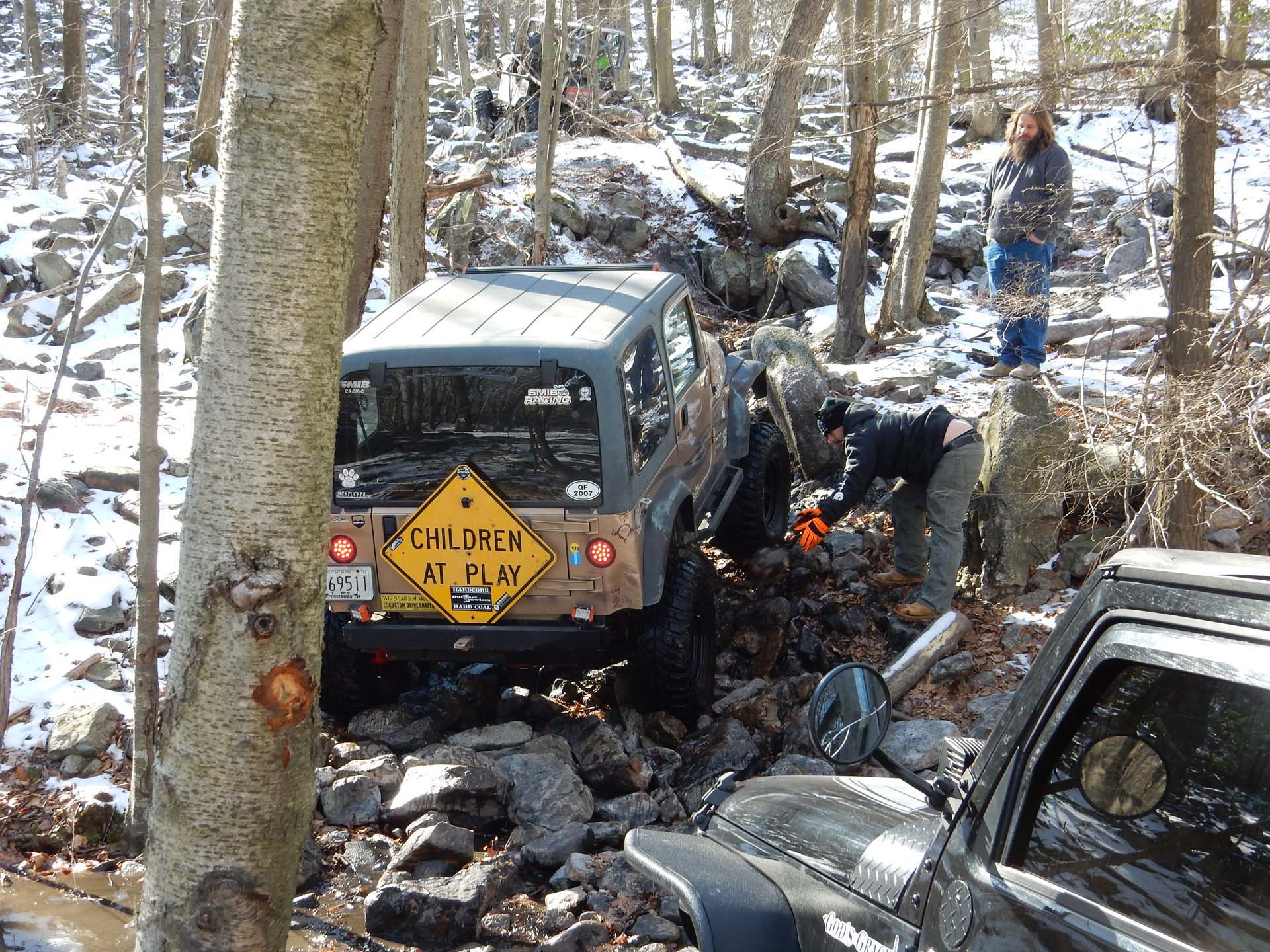 Anthracite Outdoor Adventure Area Winter Offroading