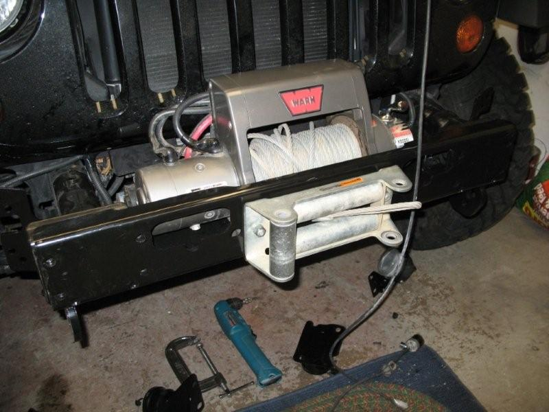 AEV JK Wrangler Front Bumper Install Winch Mount Tow Hooks