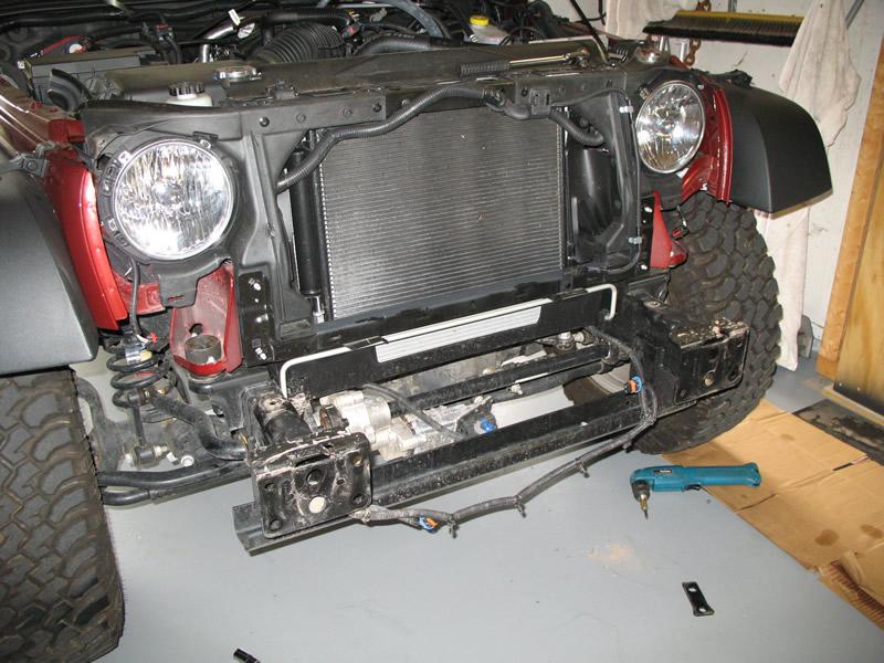 mopar jeep wrangler jk bumper installation