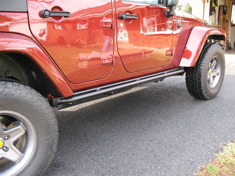 Jeep Wrangler Take factory rock rails