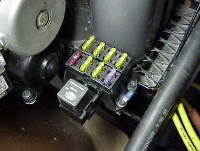 installing a painless wiring all-weather 7 circuit fuse block | jeepfan com