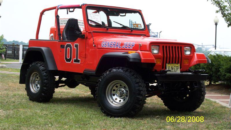 General jeep a dukes of hazzard style yj jeepfan