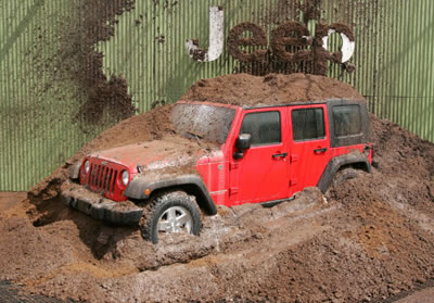 Outside Of The Javits Center, The Beginning Of The Jeep Press Conference  Featured Only A Simple Mound Of Mud On Stage, But Quickly Became One Of The  ...