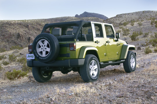 the all new 2007 jeep wrangler unlimited press release. Black Bedroom Furniture Sets. Home Design Ideas