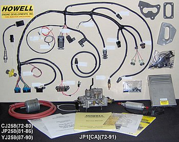 carter bbd carburetor, jeep 258, weber, howell efi ... wiring harness jeep wrangler full door #2