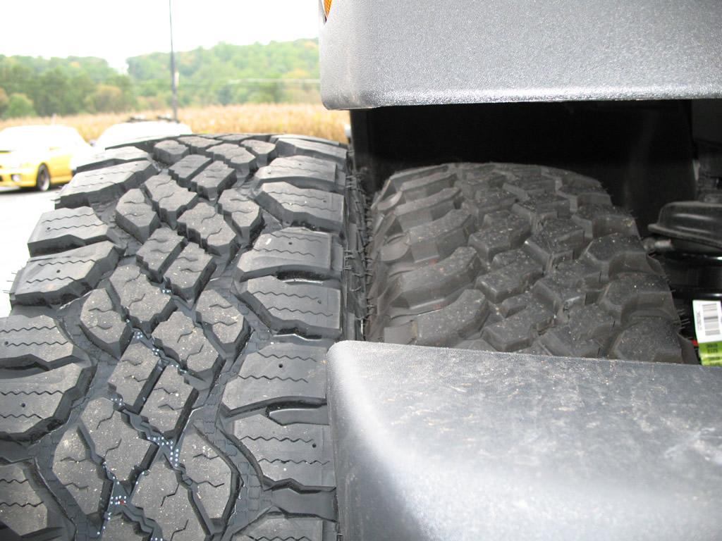 265 70r17 All Terrain Tires >> Goodyear Wrangler Duratrac 285/75R17 Tires Installed Wrangler | jeepfan.com