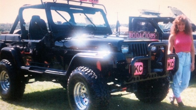 Bodacious jeep picture of the day 1987 jeep wrangler yj jeepfan rewind to 1987is totally bodacious 1987 jeep wrangler yj with its proud big hair jeep girl owner features a windshield light bar equipped with 4 kc aloadofball Images