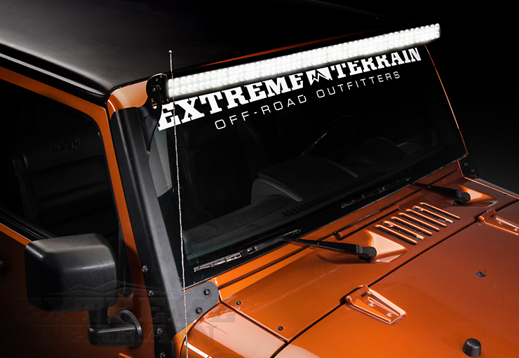 Wrangler JK Light Bar Installation Raxiom 50\
