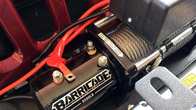 Barricade 9500lb Winch Install Jeep Wrangler JK   jeepfan.com   Winch Wiring Jeep Wrangler      Jeepfan.com