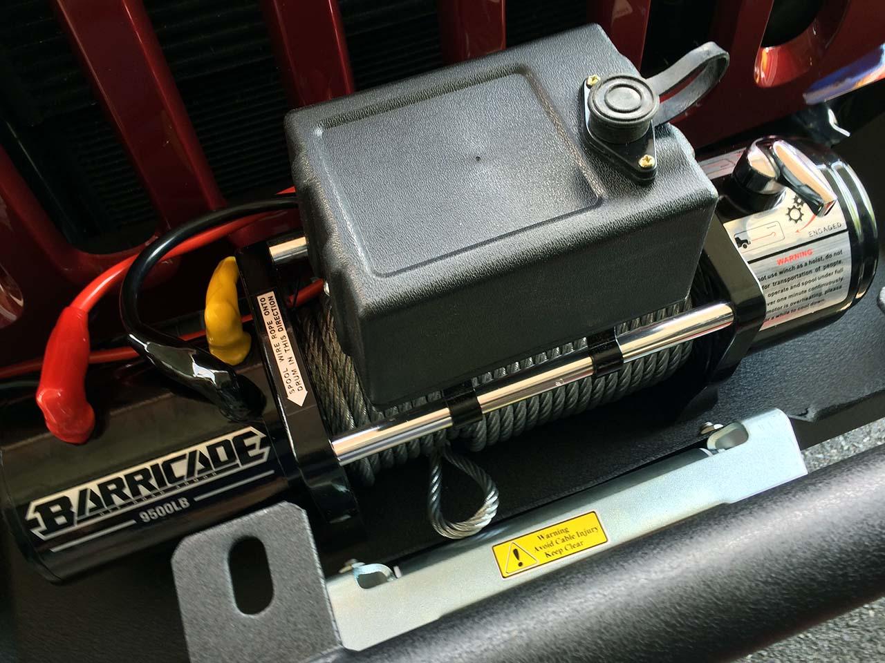 barricade 9500lb winch install jeep wrangler jk wiring. Black Bedroom Furniture Sets. Home Design Ideas