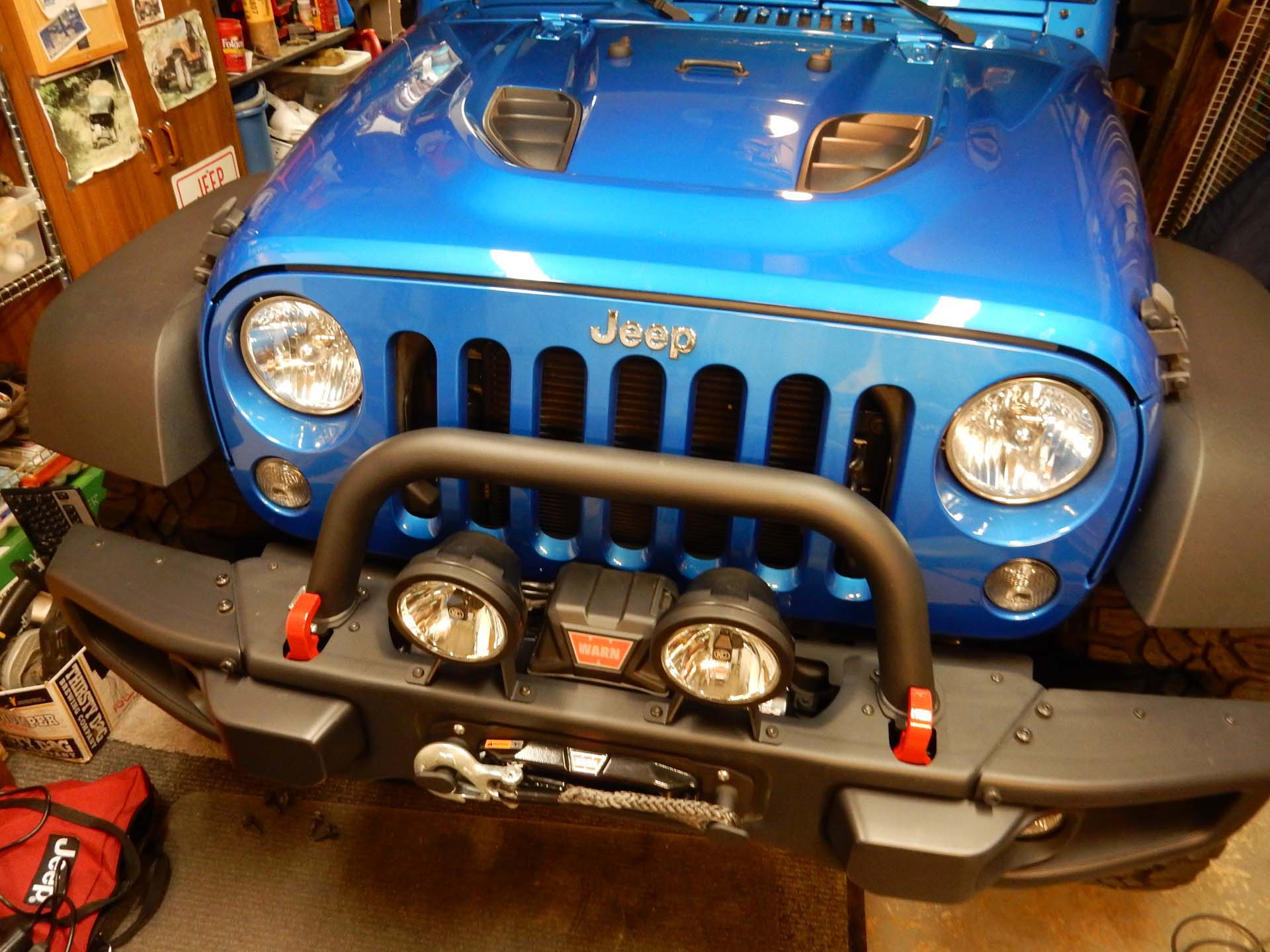 Warn VR10S Winch Installation on a Wrangler JK jeepfancom